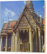 Temple Of The Emerald Buddha Wood Print