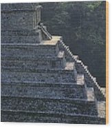 Temple Of The Inscriptions. Mexico Wood Print