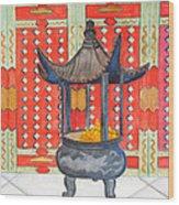 Temple Offerings Wood Print