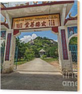 Temple On The Hill Wood Print