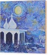 Temple On The Sea 2 Wood Print