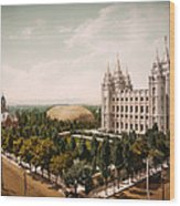 Temple Square Salt Lake City 1899 Wood Print