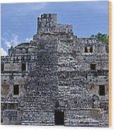 Templo De Edzna Wood Print