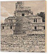 Templo De Edzna Antiguo Wood Print