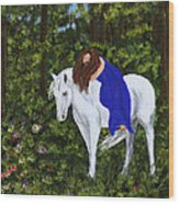 Temptress In The Forest Wood Print