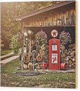 Ten Cents A Gallon Wood Print