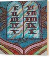 Ten Commandments Glass Wood Print