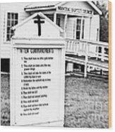 Ten Commandments Wood Print