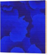 Ten Minute Floral In Blue 122612 Wood Print
