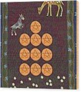 Ten Of Pentacles Wood Print