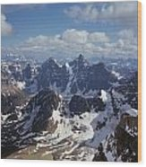 T-703502-ten Peaks From Summit Of Mt. Lefroy Wood Print