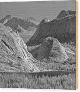 6m6552-bw-tenaya Lake Yosemite Bw  Wood Print