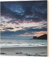 Tenby At Dawn Wood Print
