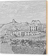 Tenby Harbor Panorama Wood Print