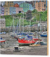 Tenby Harbour In Summer 4 Wood Print