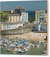 Tenby Harbour Wood Print