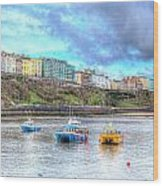 Tenby Harbour Wales Wood Print