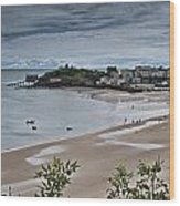 Tenby Panorama 3 Wood Print