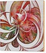Tendrils 05 Wood Print by Amanda Moore