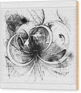 Tendrils In Pencil 01 Wood Print