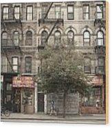 Tenement Building Wood Print
