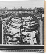 Tenement Housing Laundry Wood Print
