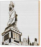 Tenement Liberty Wood Print