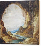Teniers' Vista From A Grotto Wood Print
