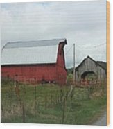 Tennesse Red Barn Wood Print