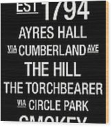 Tennessee College Town Wall Art Wood Print