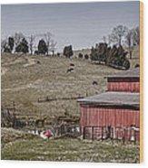 Tennessee Farmstead Wood Print