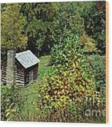 Tennessee Mountain Cabin Wood Print