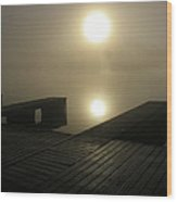 Tennessee River Sunrise Wood Print