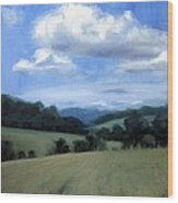 Tennessee's Rolling Hills And Clouds Wood Print