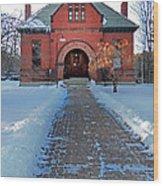 Tenney Memorial Library Newbury Vermont Wood Print