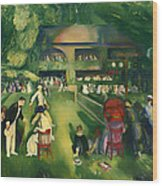 Tennis At Newport 1920 Wood Print
