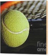 Tennis Equipment Wood Print