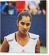Tennis Player Sania Mirza Wood Print by Nishanth Gopinathan