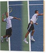 Tennis Serve By Mikhail Youzhny Wood Print