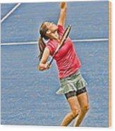 Tennis Star Jamie Hampton Wood Print