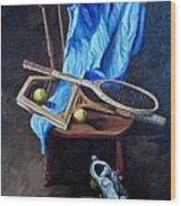 Tennis Still Life Wood Print