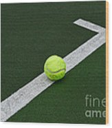 Tennis - The Baseline Wood Print