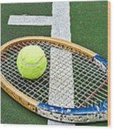 Tennis - Wooden Tennis Racquet Wood Print by Paul Ward