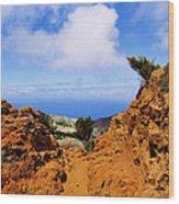 Teno Mountains Wood Print