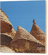 Tent Rocks Geology Wood Print