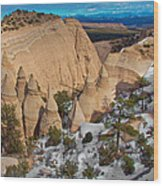Tent Rocks National Monument Wood Print