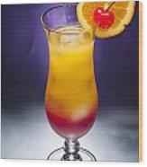 Tequila Sunrise Cocktail Wood Print