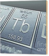 Terbium Chemical Element Wood Print