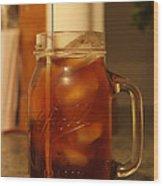 Teris Peach Tea Sober Wood Print