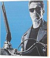 Terminator I'll Be Back Wood Print
